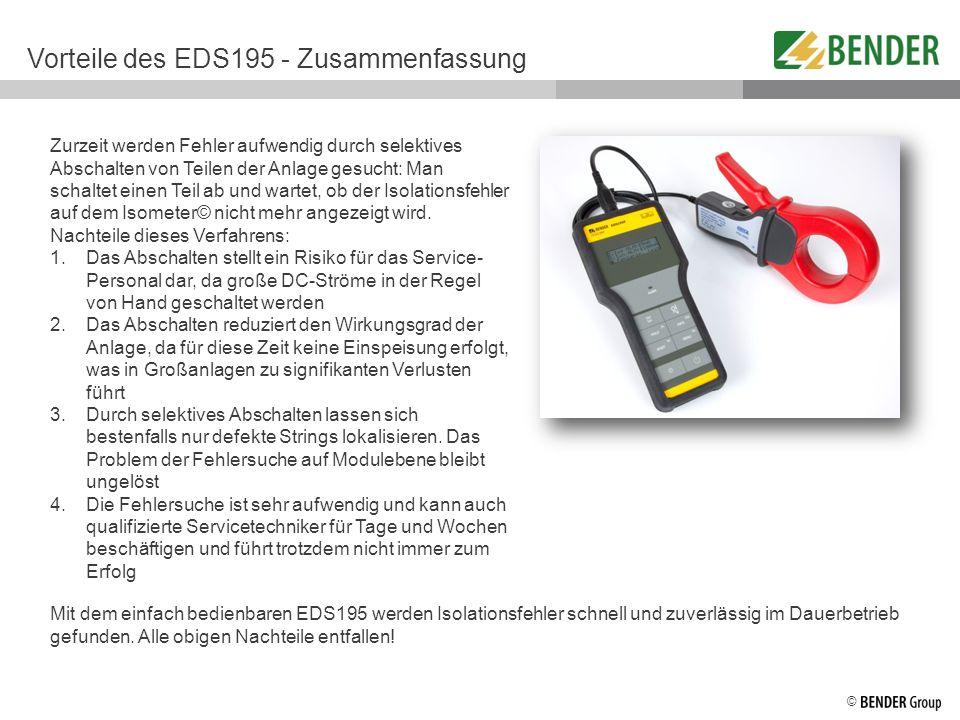 Vorteile des EDS195 - Zusammenfassung