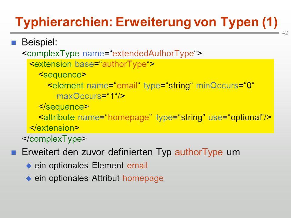 Typhierarchien: Erweiterung von Typen (1)