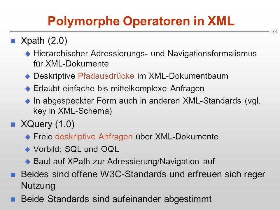 Polymorphe Operatoren in XML