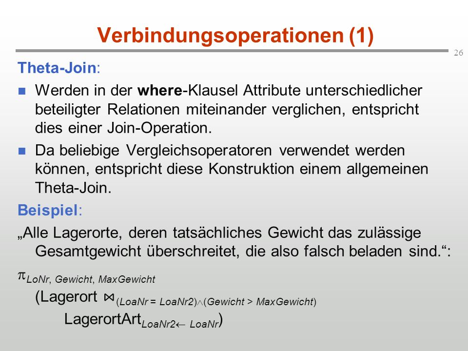 Verbindungsoperationen (1)