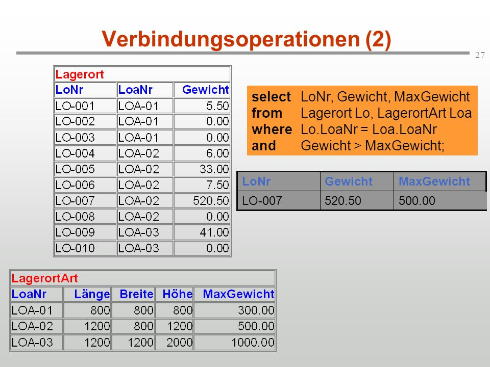 Verbindungsoperationen (2)