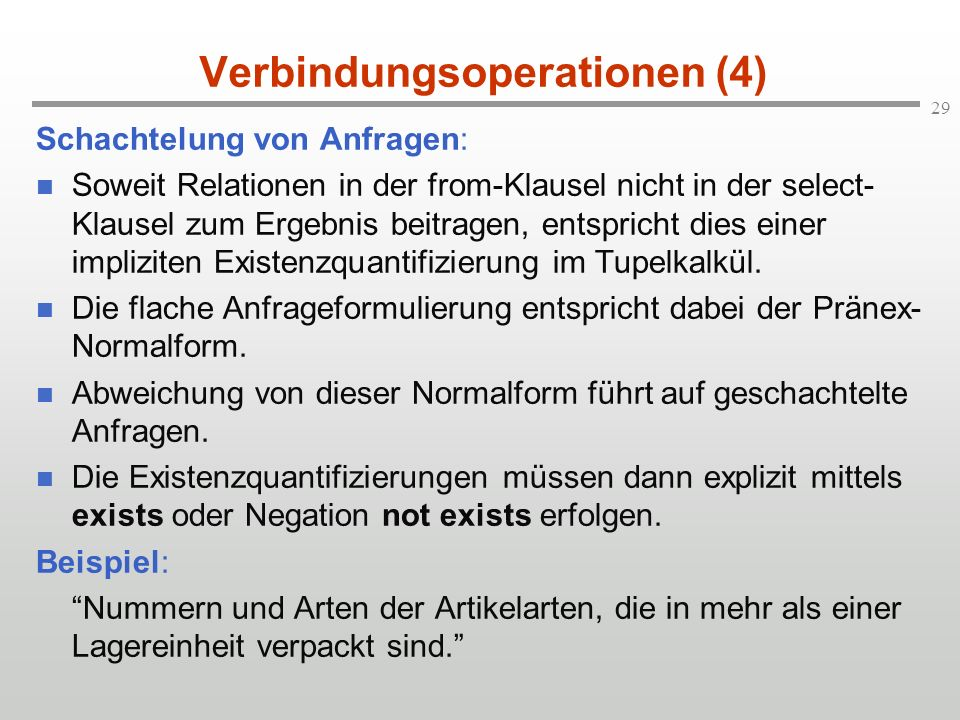 Verbindungsoperationen (4)