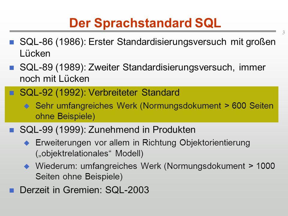Der Sprachstandard SQL
