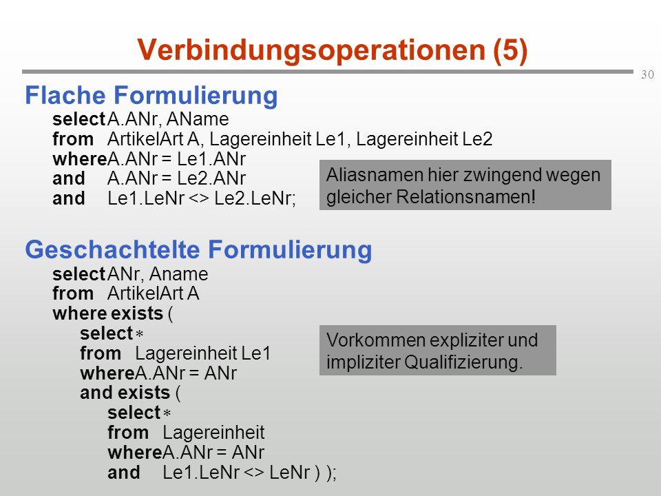 Verbindungsoperationen (5)
