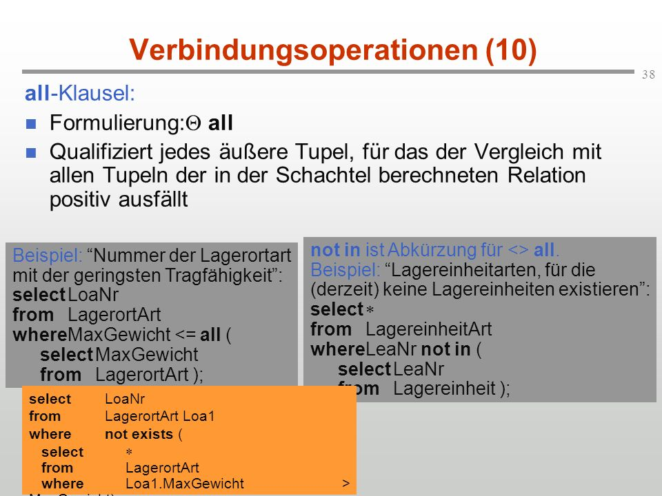 Verbindungsoperationen (10)