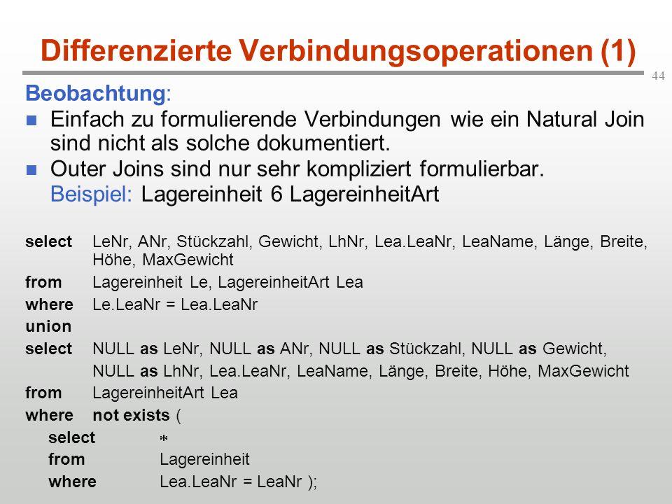 Differenzierte Verbindungsoperationen (1)