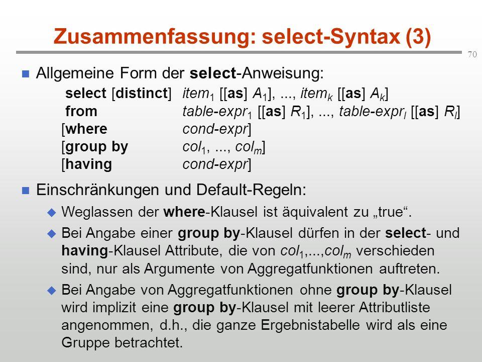 Zusammenfassung: select-Syntax (3)