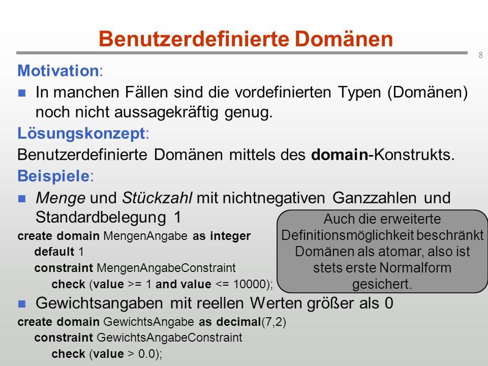 Benutzerdefinierte Domänen