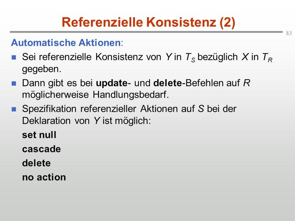 Referenzielle Konsistenz (2)