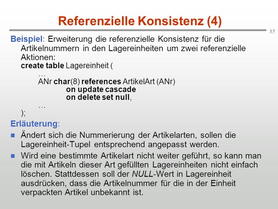 Referenzielle Konsistenz (4)