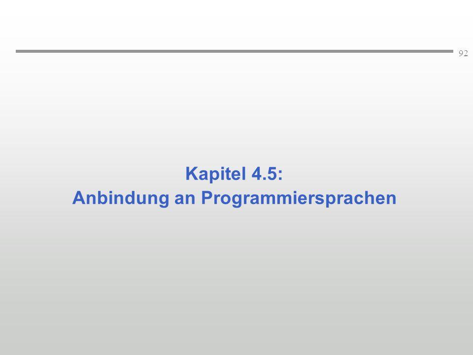 Anbindung an Programmiersprachen