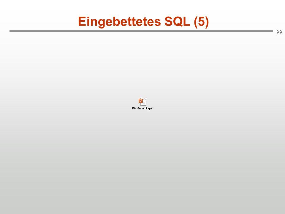 Eingebettetes SQL (5)