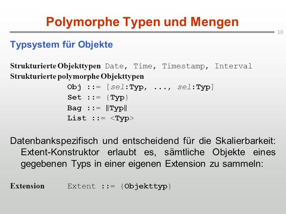 Polymorphe Typen und Mengen