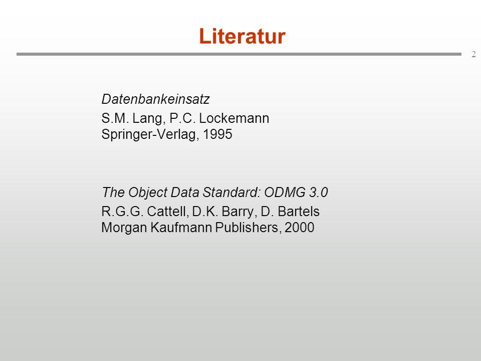 Literatur Datenbankeinsatz