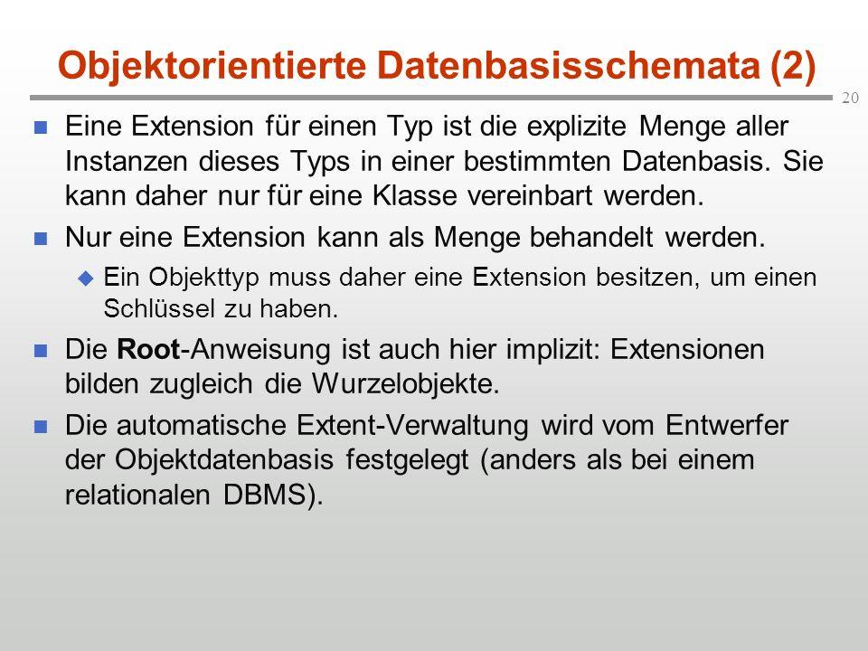 Objektorientierte Datenbasisschemata (2)