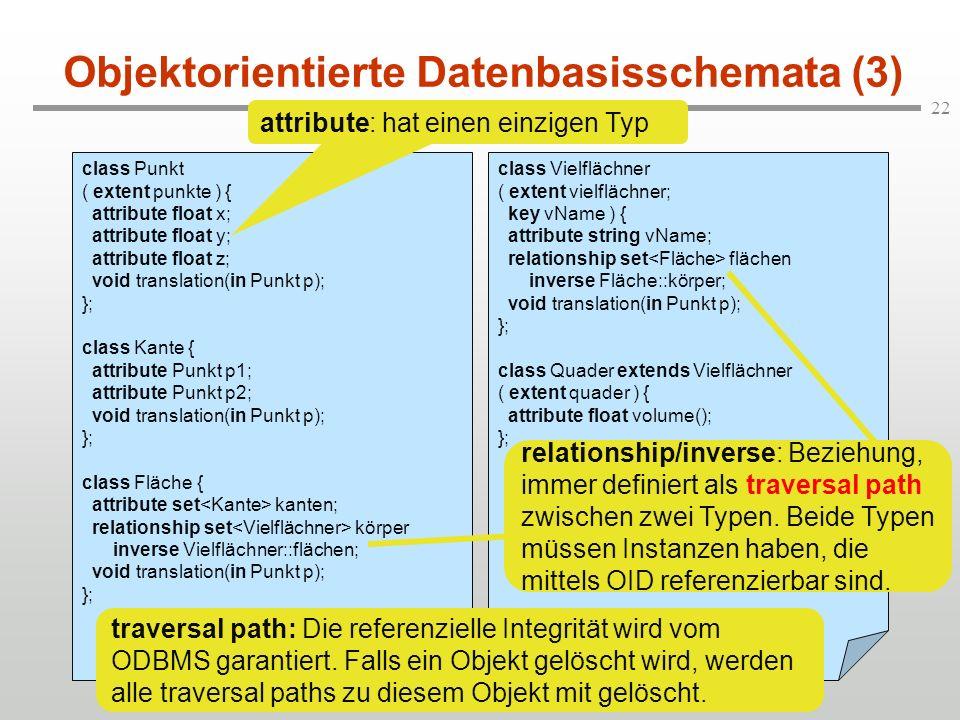 Objektorientierte Datenbasisschemata (3)