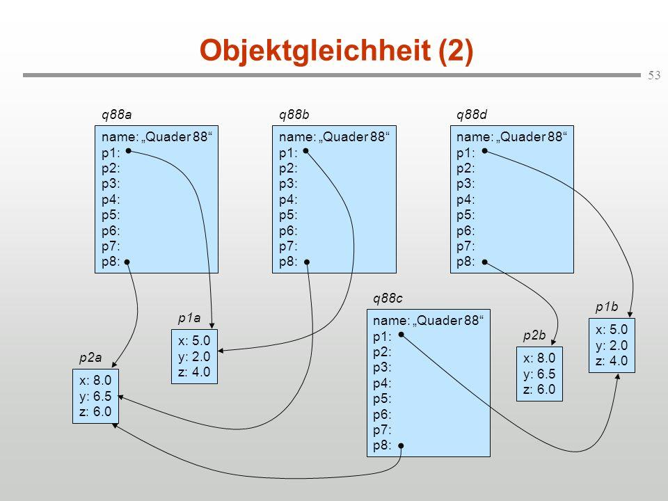 "Objektgleichheit (2) q88a name: ""Quader 88 p1: p2: p3: p4: p5: p6:"