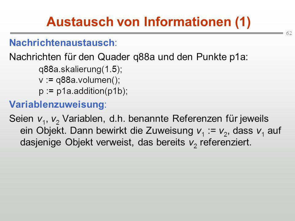 Austausch von Informationen (1)