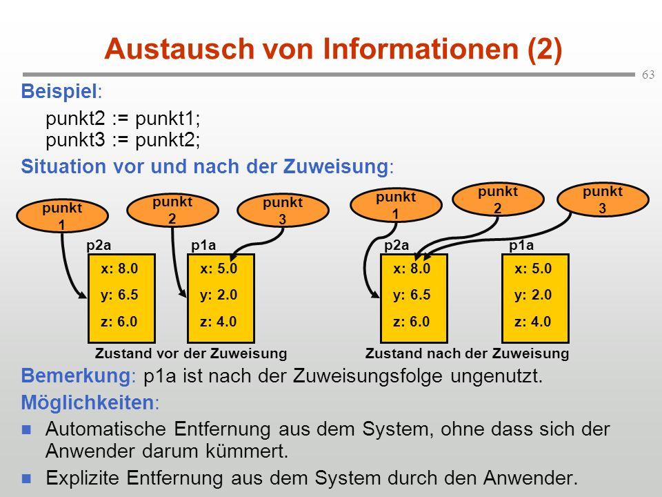 Austausch von Informationen (2)