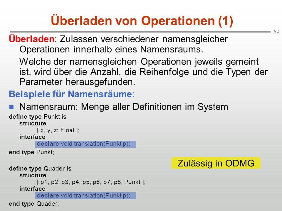 Überladen von Operationen (1)