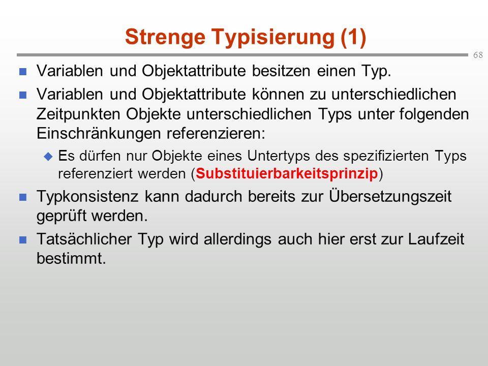 Strenge Typisierung (1)