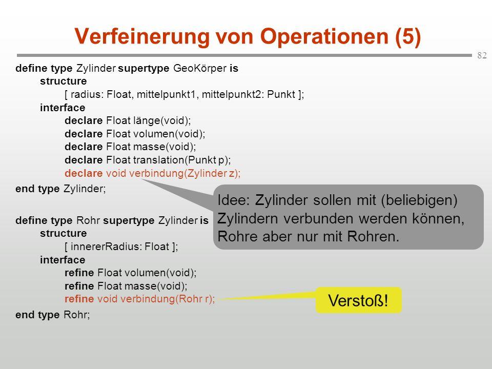 Verfeinerung von Operationen (5)