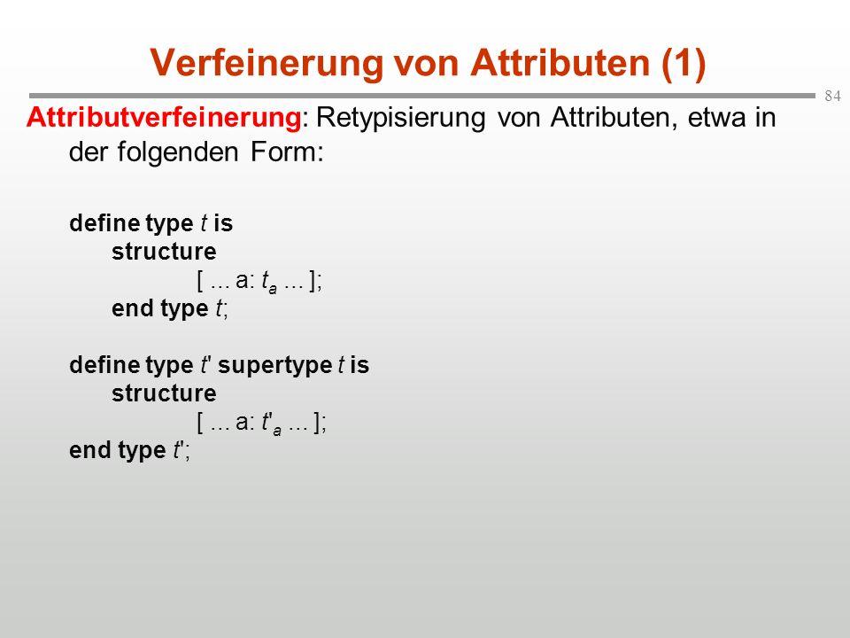 Verfeinerung von Attributen (1)