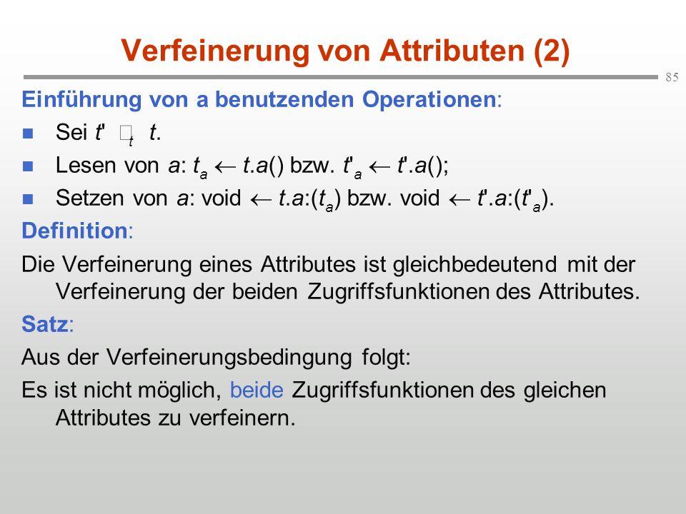 Verfeinerung von Attributen (2)
