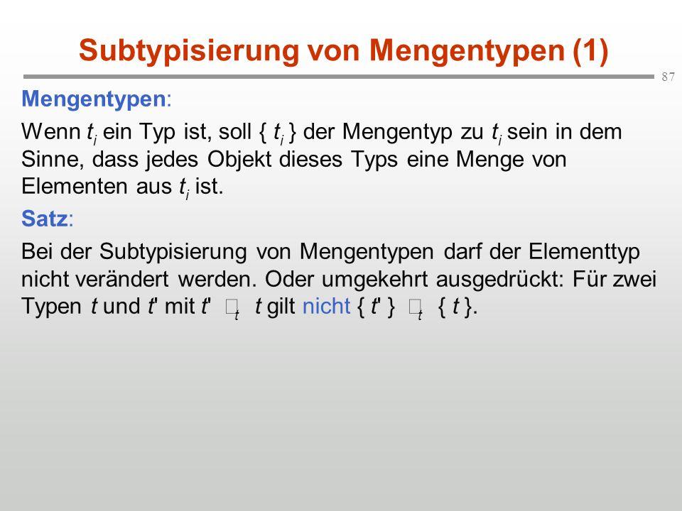 Subtypisierung von Mengentypen (1)
