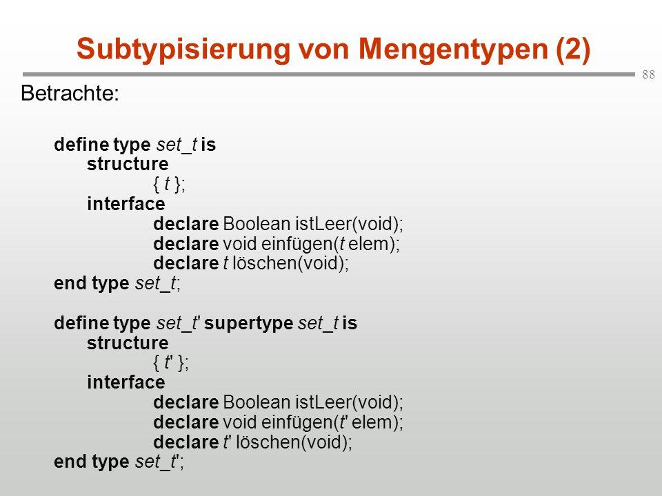 Subtypisierung von Mengentypen (2)
