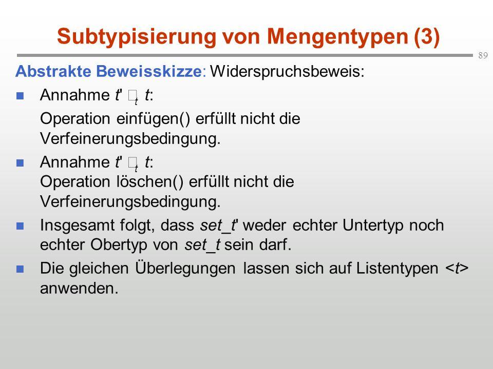 Subtypisierung von Mengentypen (3)
