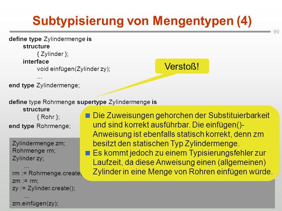 Subtypisierung von Mengentypen (4)