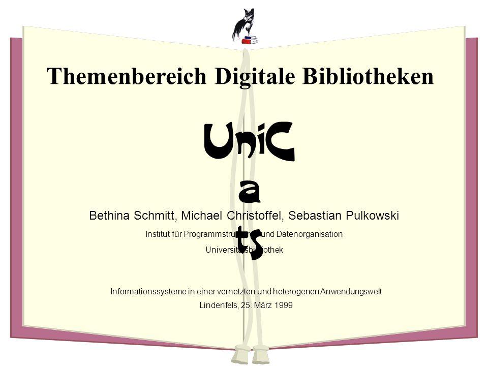 Themenbereich Digitale Bibliotheken