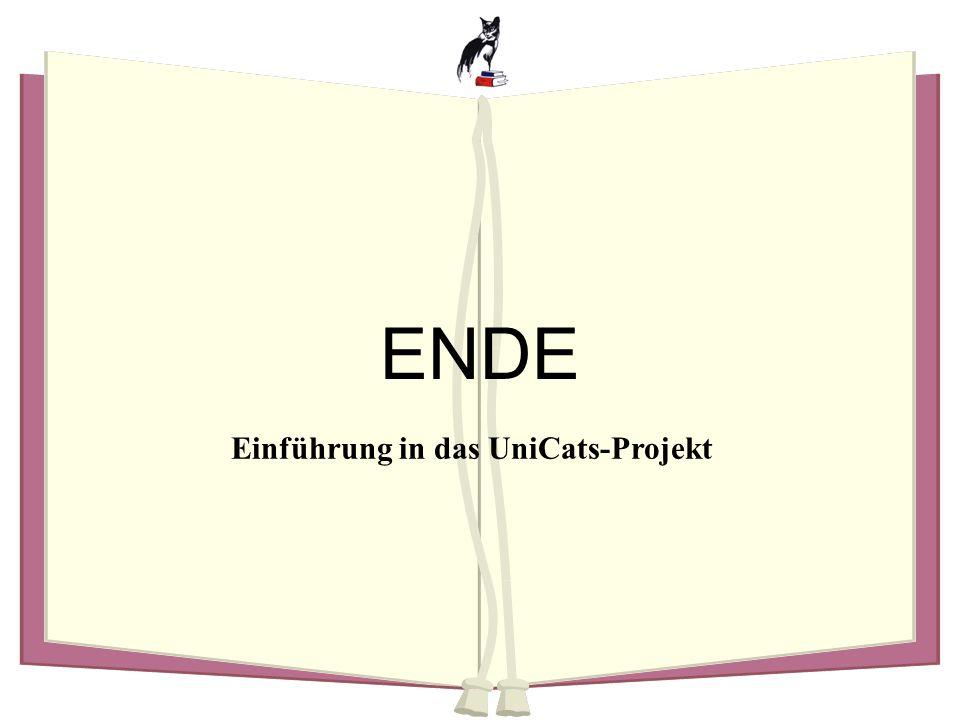 Einführung in das UniCats-Projekt