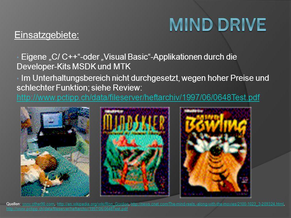 Mind Drive Einsatzgebiete: