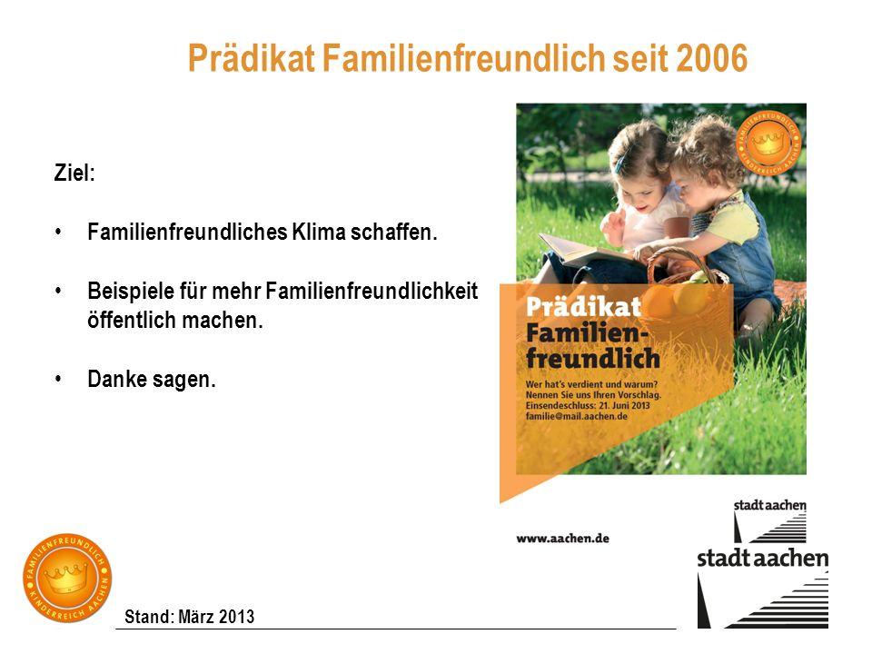 Prädikat Familienfreundlich seit 2006