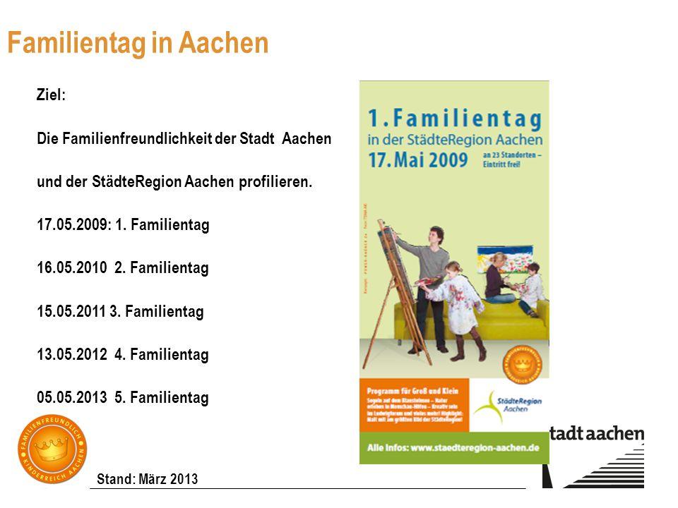 Familientag in Aachen Ziel: