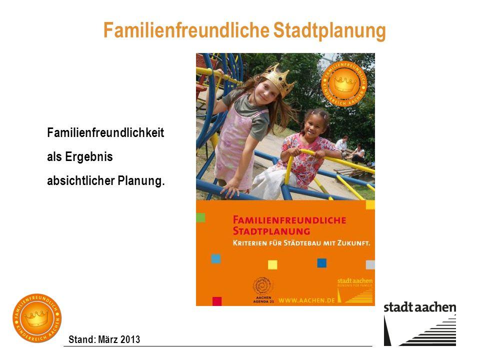Familienfreundliche Stadtplanung