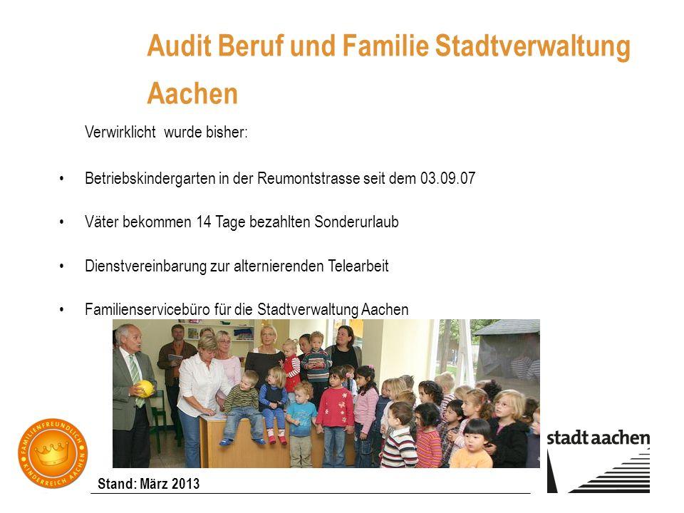 Audit Beruf und Familie Stadtverwaltung Aachen