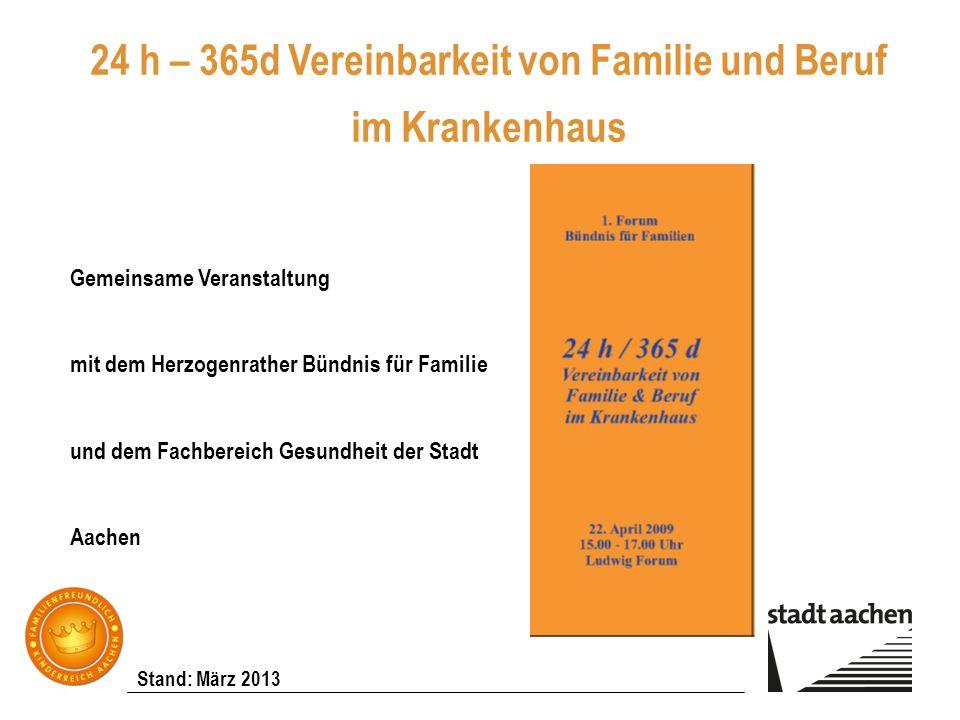 24 h – 365d Vereinbarkeit von Familie und Beruf im Krankenhaus