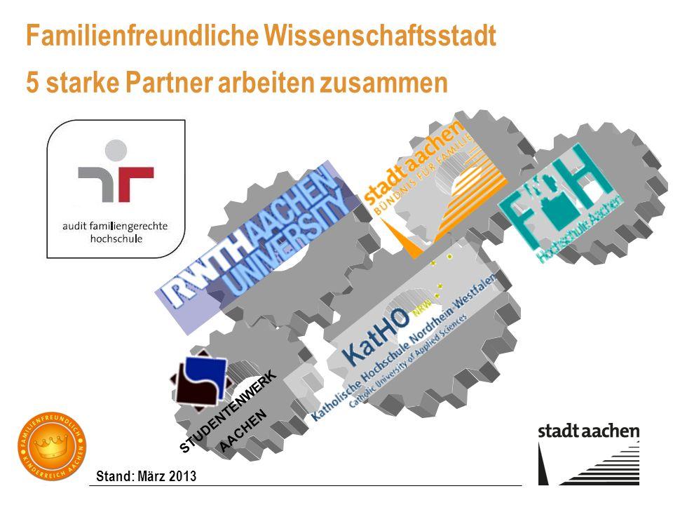 Familienfreundliche Wissenschaftsstadt 5 starke Partner arbeiten zusammen