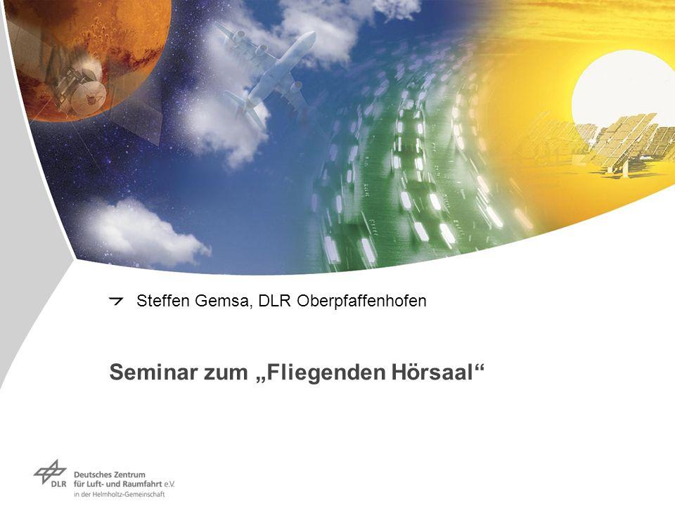 """Seminar zum """"Fliegenden Hörsaal"""