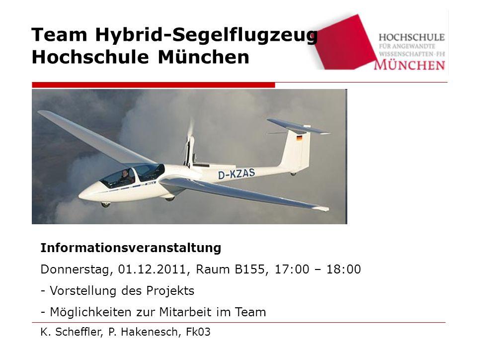 Team Hybrid-Segelflugzeug Hochschule München