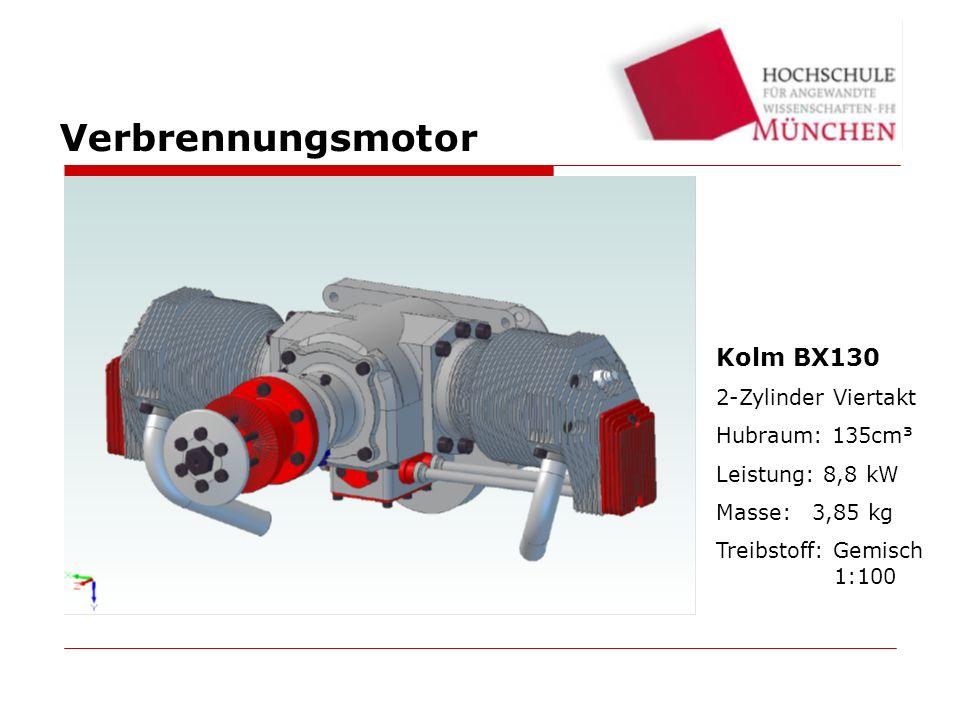Verbrennungsmotor Kolm BX130 2-Zylinder Viertakt Hubraum: 135cm³