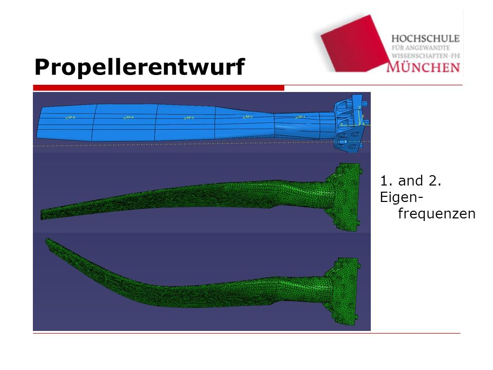 Propellerentwurf and 2. Eigen-frequenzen 24