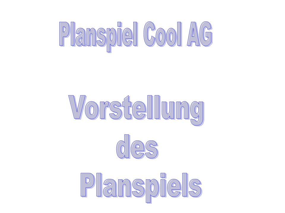 Planspiel Cool AG Vorstellung des Planspiels