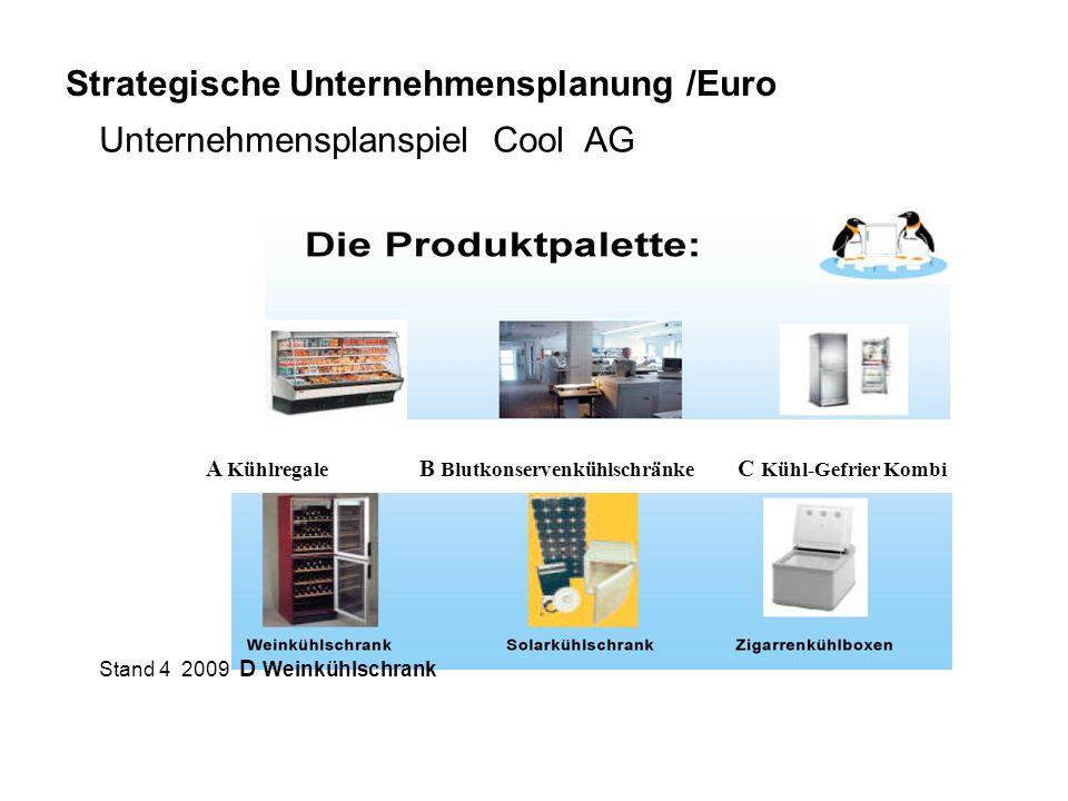 Strategische Unternehmensplanung /Euro Unternehmensplanspiel Cool AG
