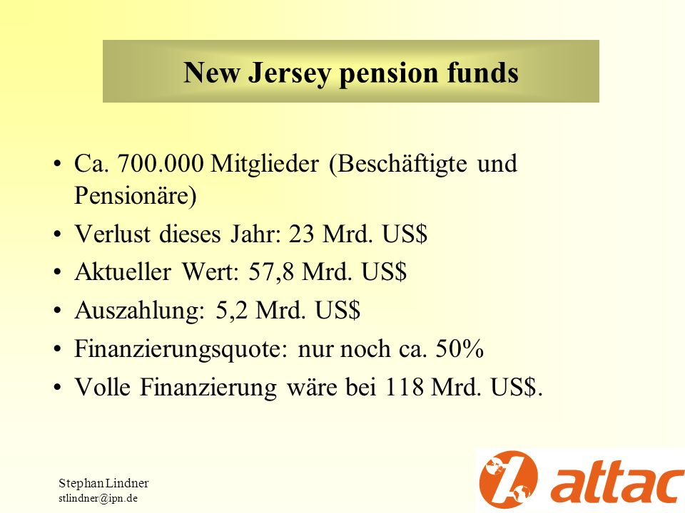 New Jersey pension funds