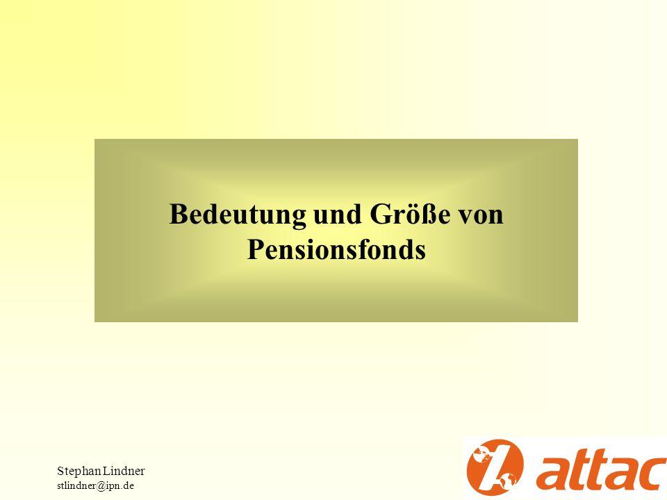 Bedeutung und Größe von Pensionsfonds
