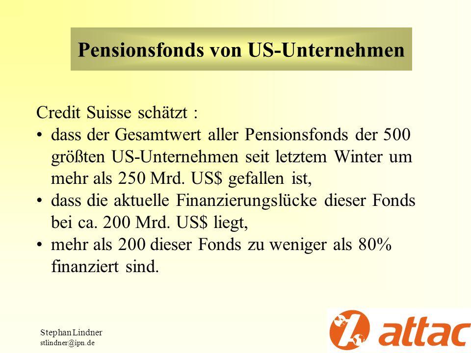 Pensionsfonds von US-Unternehmen